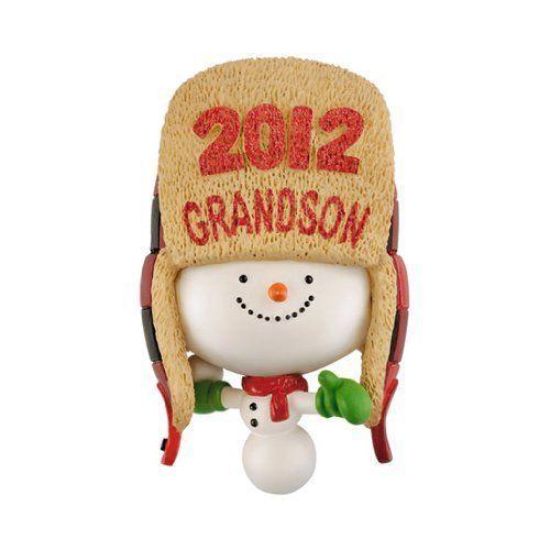 "Hallmark Keepsake 2016 /""Grandson/"" Dated Holiday Ornament Grandson"
