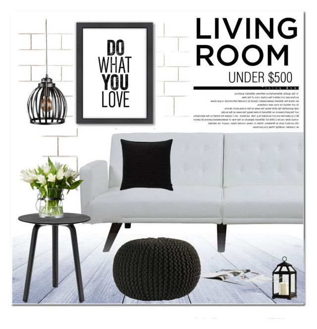 """LIVING ROOM UNDER $500"" by nanawidia ❤ liked on Polyvore featuring interior, interiors, interior design, home, home decor, interior decorating, CB2, Improvements, HAY and Biddeford"