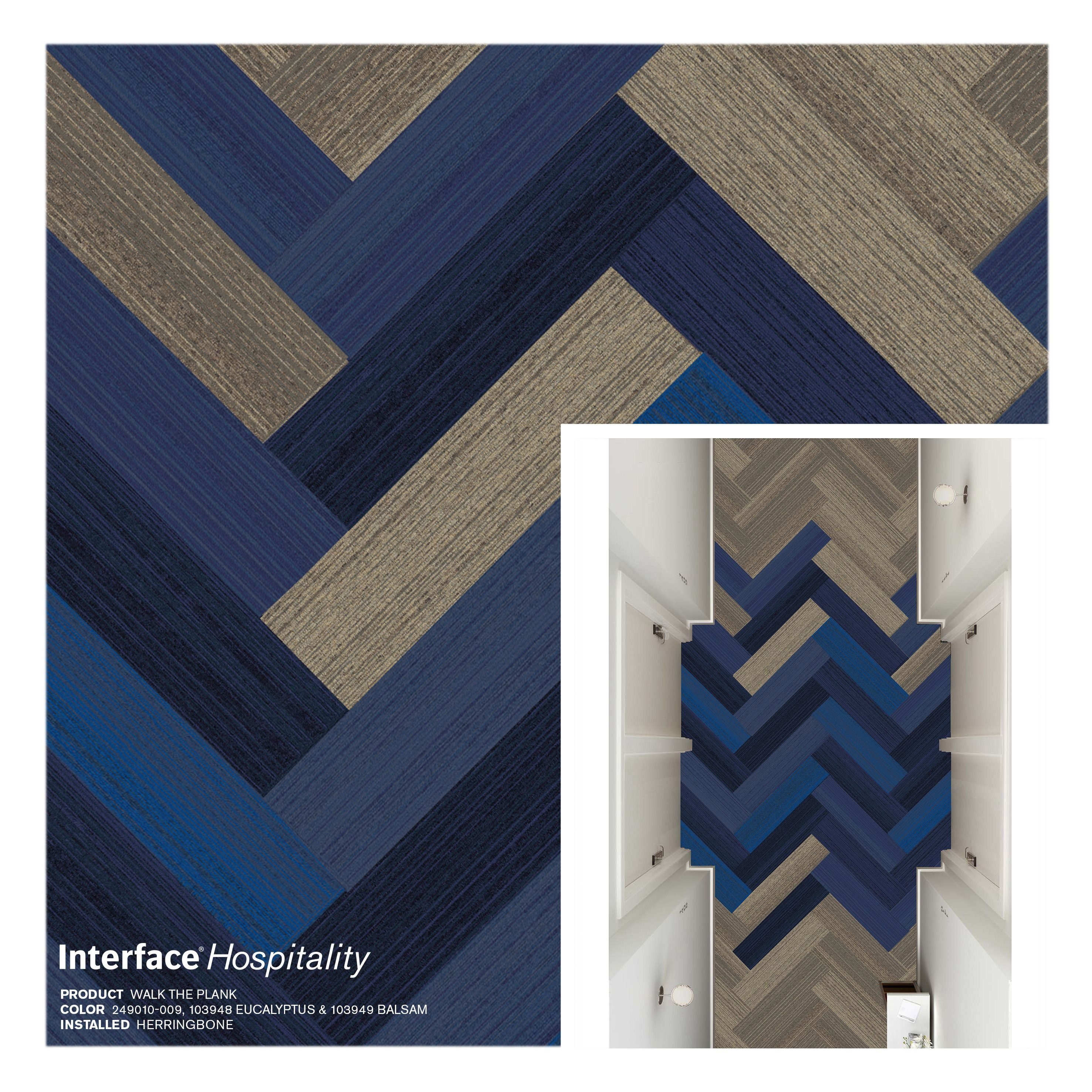 Interface Walk The Plank Carpet Tile Herringbone Corridor Uzory