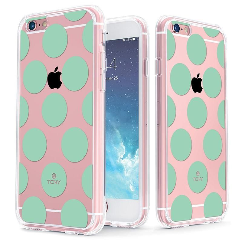 Mint Large Polka Dot Slim Protective Case for iPhone 6/6s