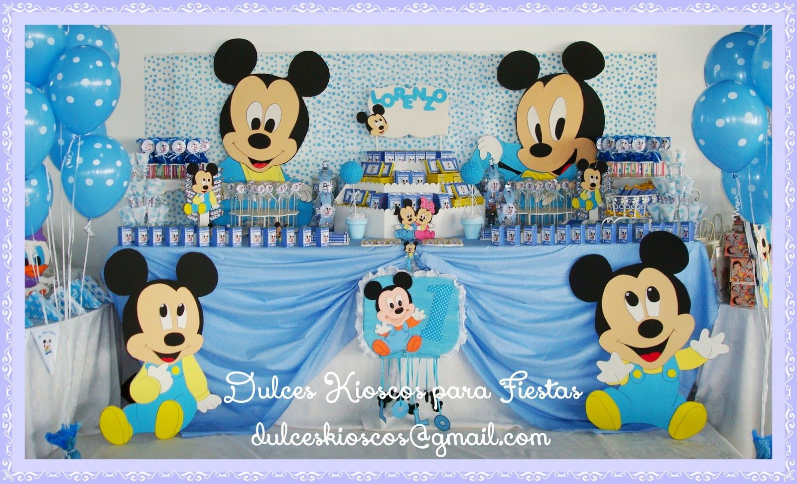Mickey Bebe Cumpleaños Decoracion Buscar Con Google Mickey Mouse Baby Shower Mickey Baby Showers Mickey Mouse 1st Birthday