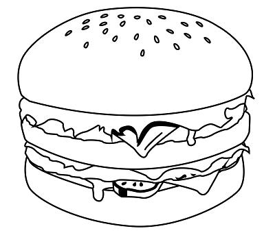 Dessin Hamburger Facile Png 400 340 Dessin Hamburger Coloriage Dessin De Burger