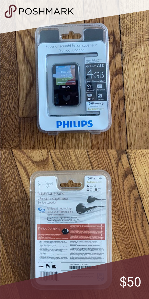 Philips Gogear Vibe Mp3 Video Player Never Used Still In Box Philips Other In 2020 Video Player Philips Vibes