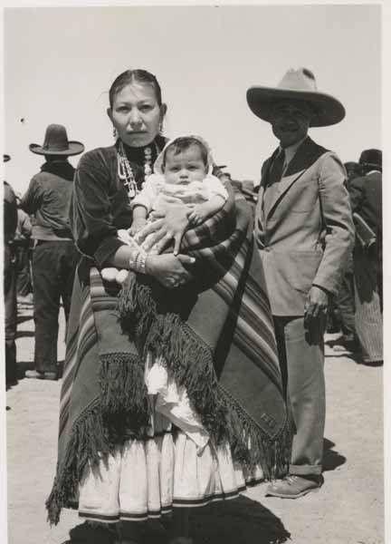 Navajo woman and son - 1930