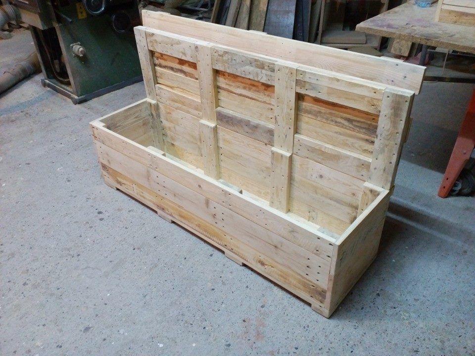 Pallet Bench With Storage Bench With Storage Storage