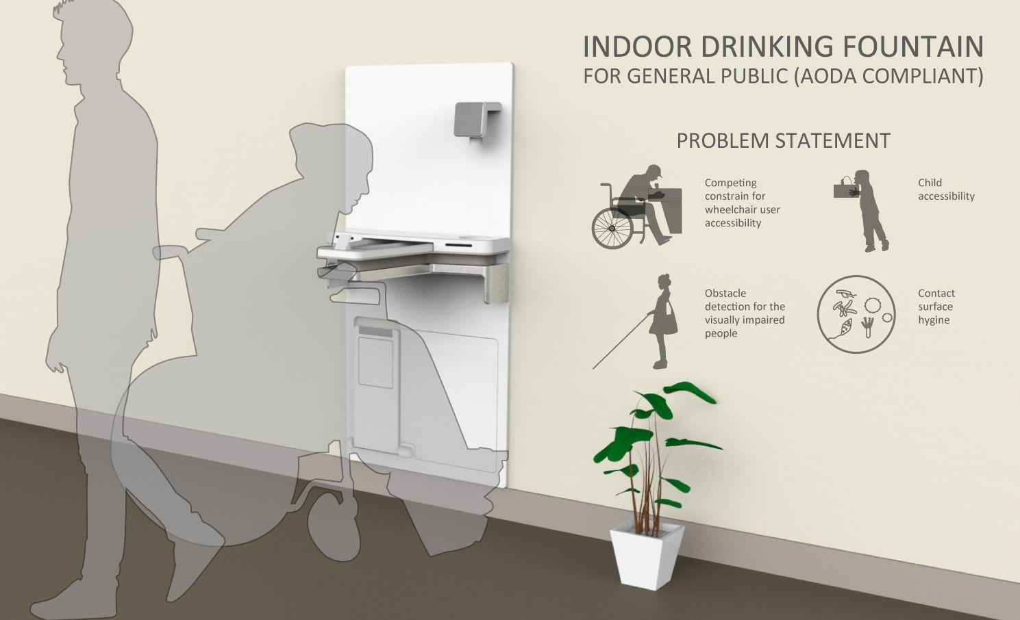 Indoor Drinking Fountain Design For General Public Aoda Compliant