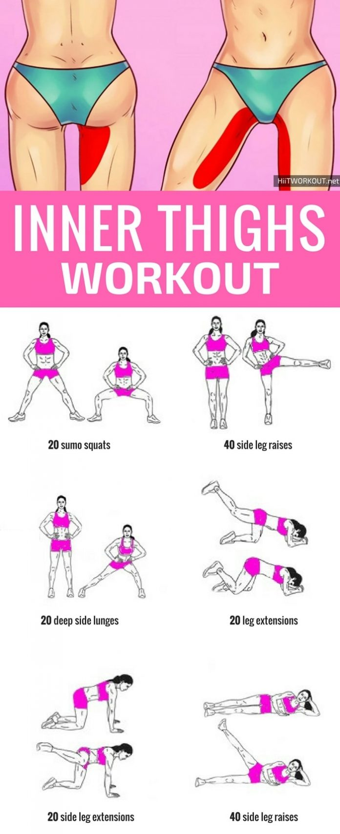 This is a great inner thigh workout at home, you do not need any equipment, just 10 minutes a day. #...