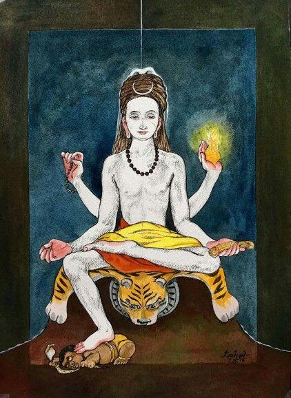 Dakshinamoorti Shiv by Artist Keshav from India from his Facebook