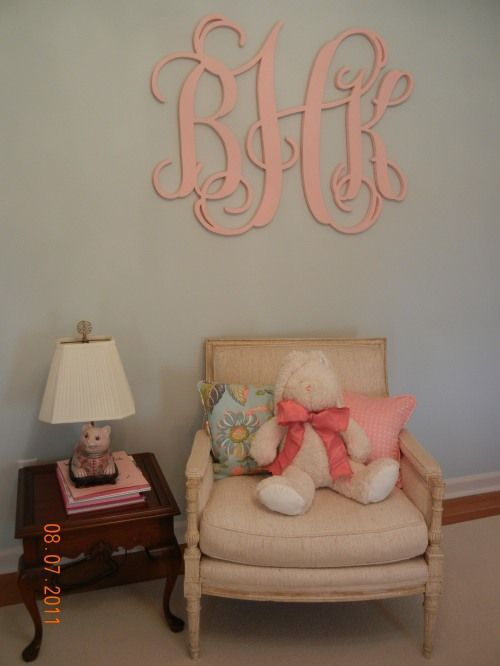 Cut out wooden monogram!  email: jamiepies@aol.com or visit www.jamiegivens.org for details!  They are hand carved and Jamie can ship them!