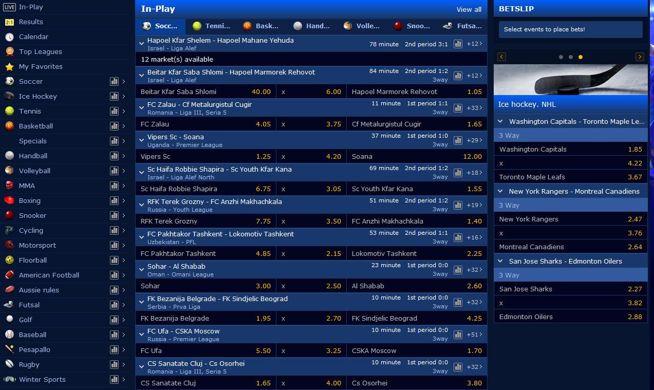 Live Sports Odds