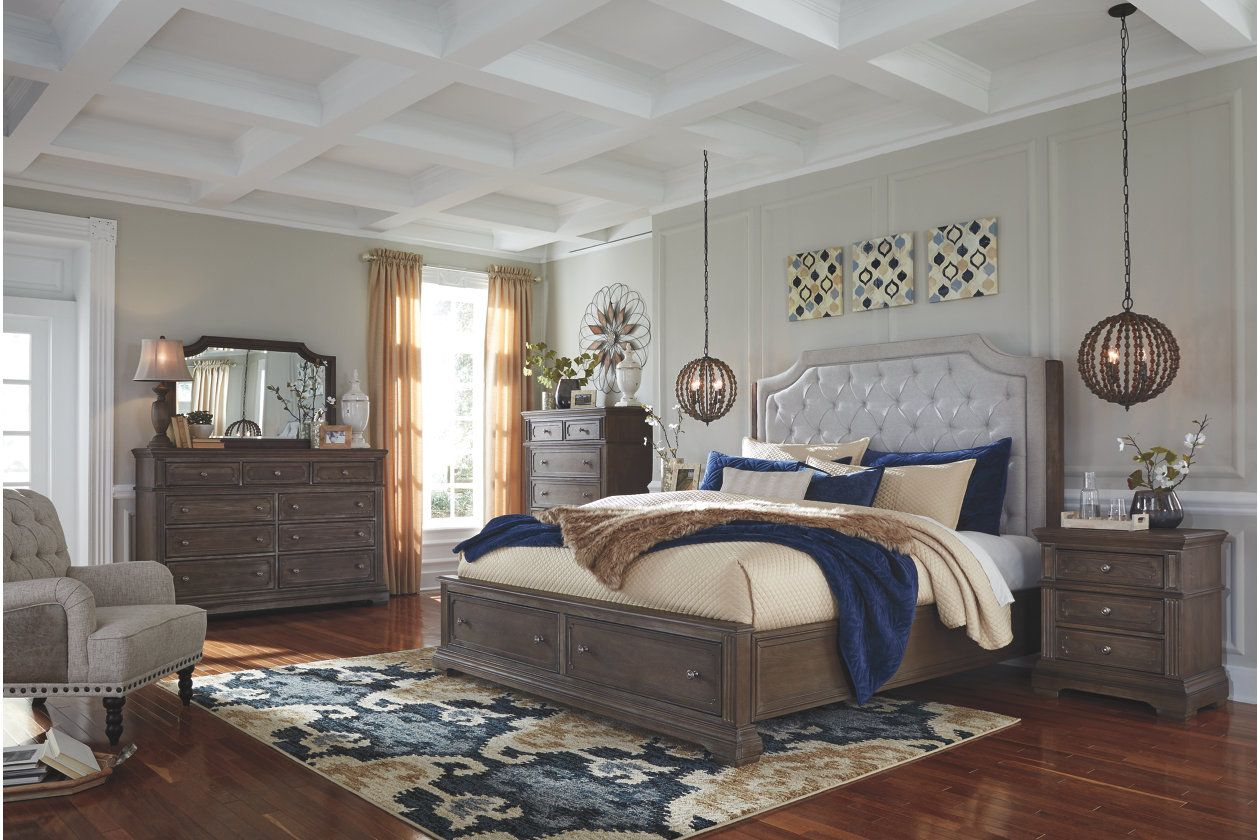Mikalene Queen Panel Bed With Storage With Images Queen Panel