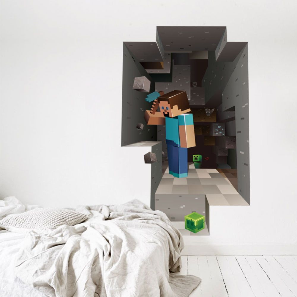 3D Minecraft Vinyl Wall Sticker – The Ministry of Toys | Shopping ...