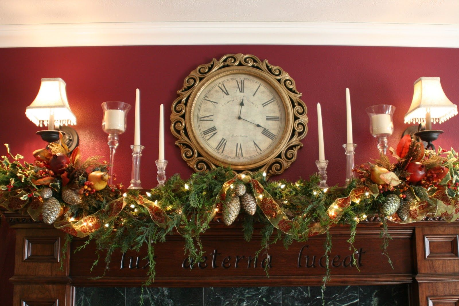Victorian Christmas Mantel Decorations | Christmas  Mantel With Terrific Designs Top