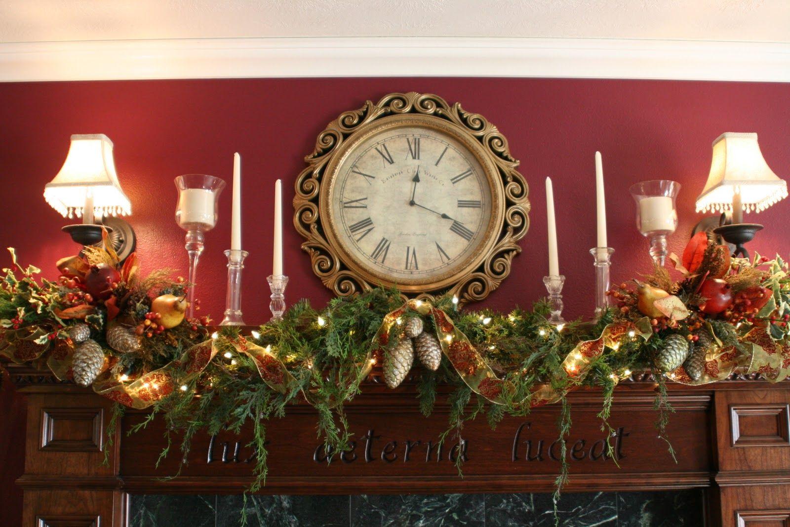 Vintage Christmas Mantel Decorations : Inspirational charles dickens christmas mantel and