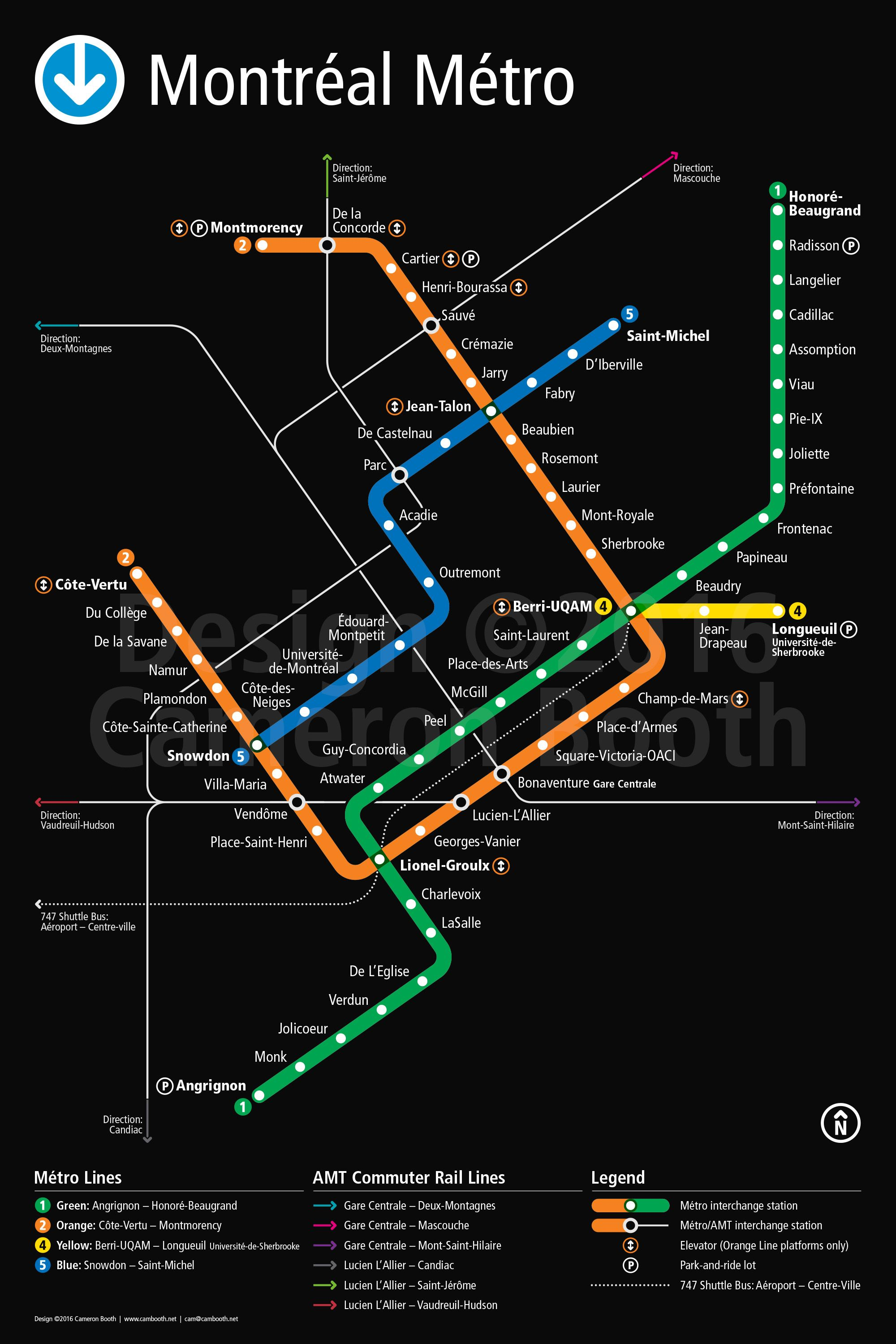 Subway Map Montreal Canada Montreal Metro Map – Large | Metro map, Subway map, Subway map design