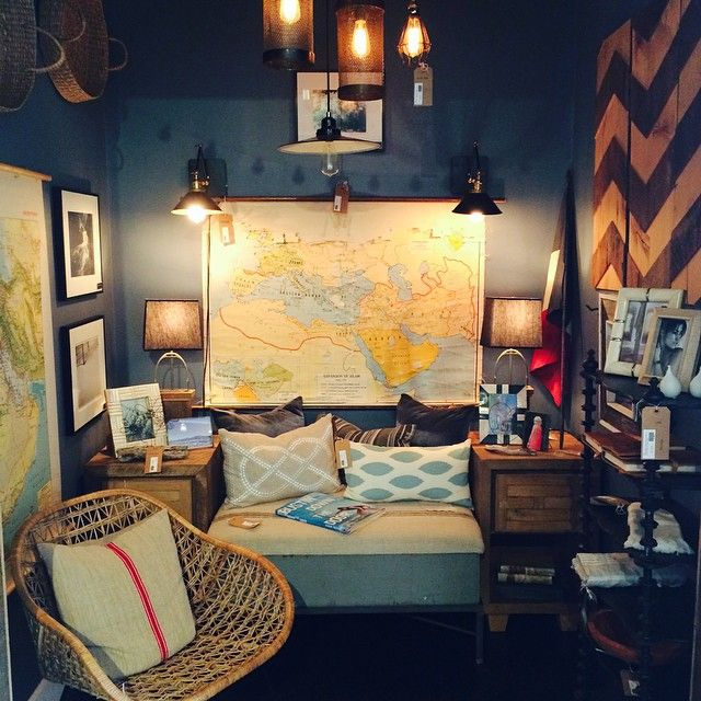 Cozy nook full of goodies for your loved ones. Come by and see what curiosities we have in store. #industryhome #decor #gifts #santabarbara #pillows