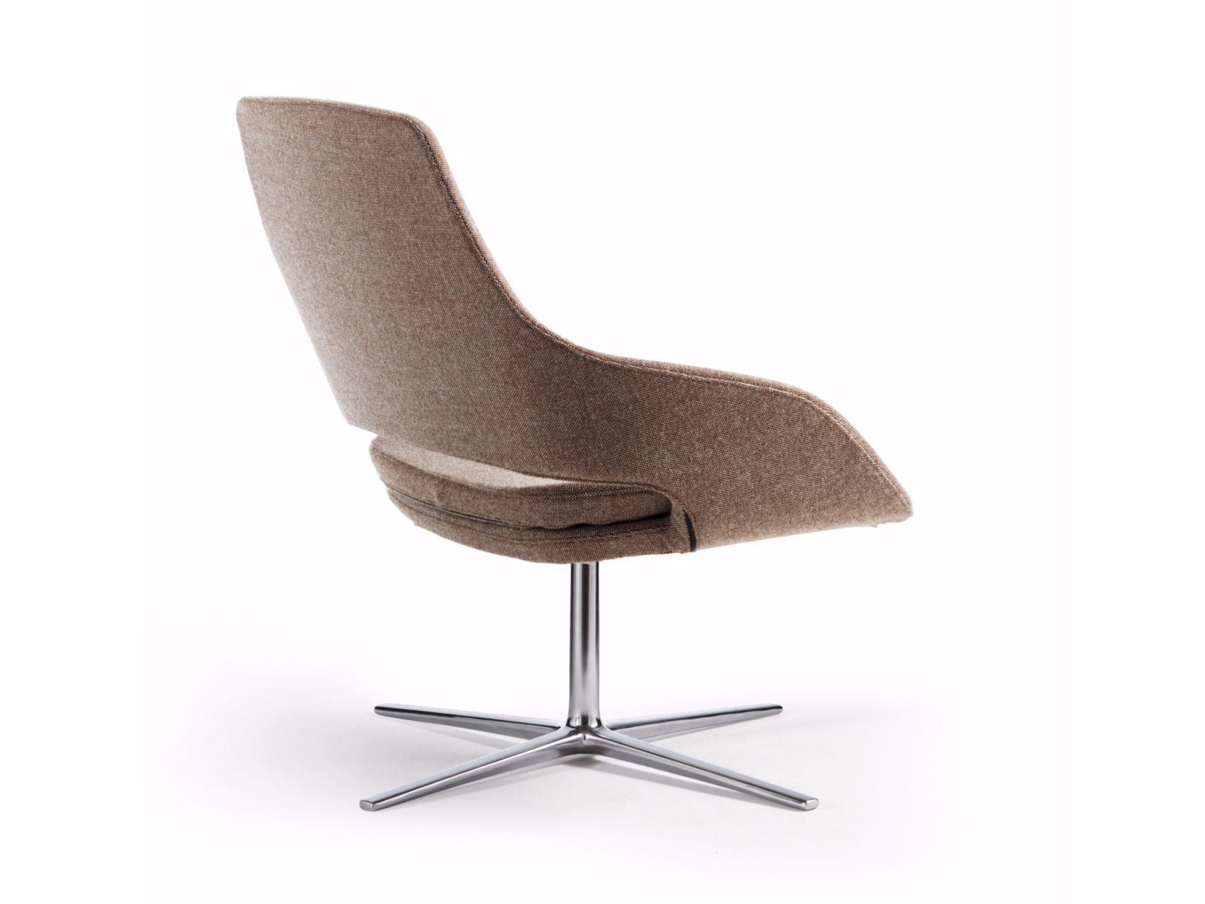CAPTAIN LOUNGE Easy chair with 4-spoke base Captain Collection by Sinetica Industries design Baldanzi