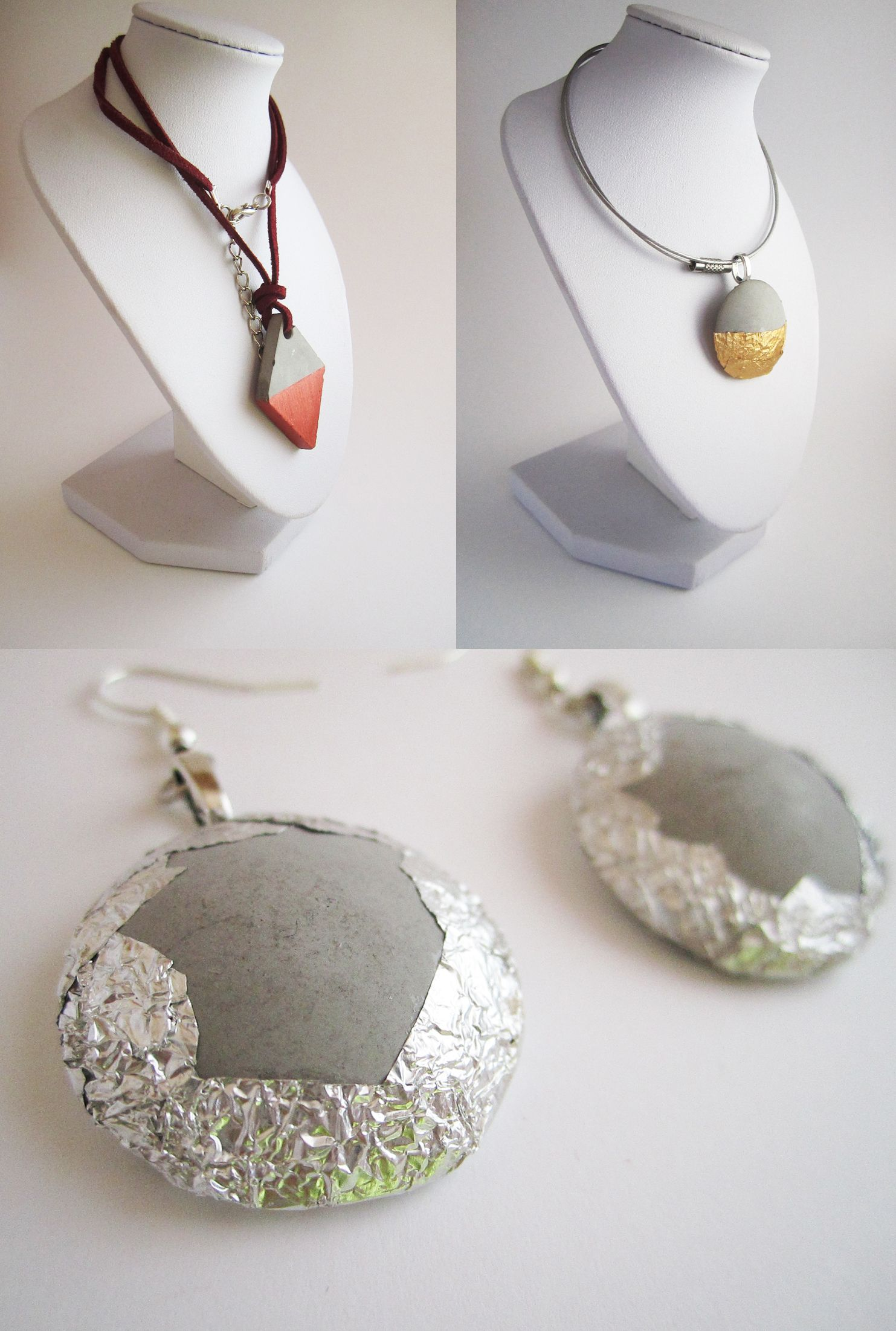 Bijoux en b ton croncrete jewel diy b ton cr atif pinterest bijoux et bijoux - Pinterest beton ...