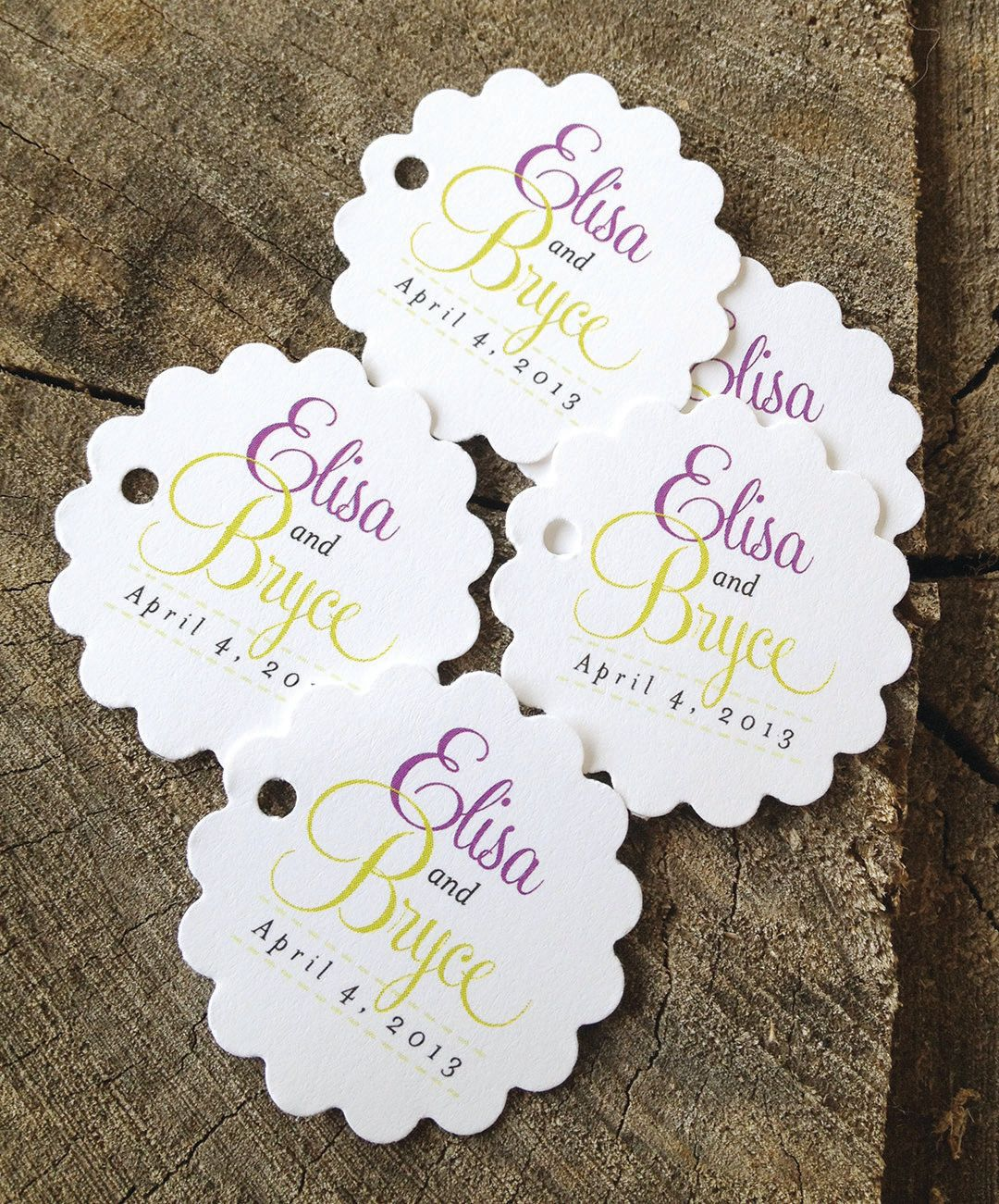 Script Wedding Favor Tags | Party ideas | Pinterest | Wedding favor ...