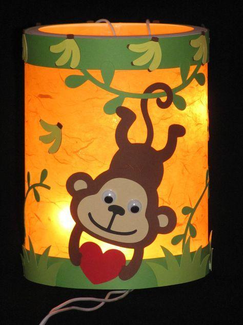 Herbst - Laterne  Äffchen  Martinslaterne 3D Element - ein Designerstück von Wonderful-Paper-Art bei DaWanda #laternebastelnkinder