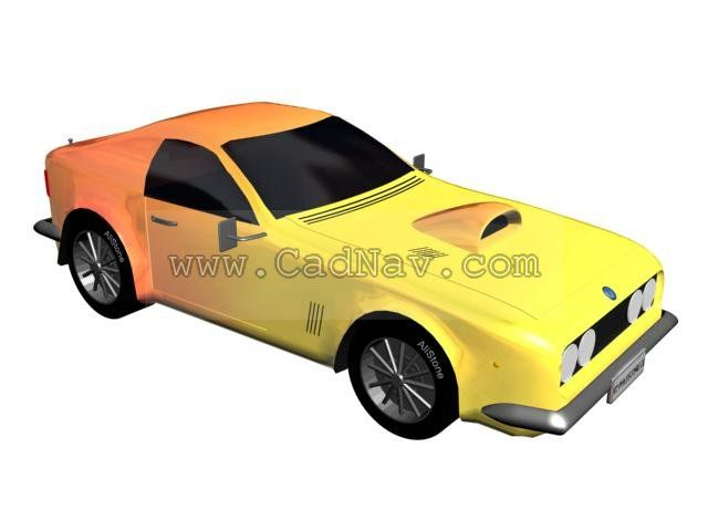 3d Car Model Pony Muscle Car Available In 3dsmax Vray Jpg Textures Included It Has 31200 Polygons And 15688 Vertices Http Car 3d Model Car Model Model