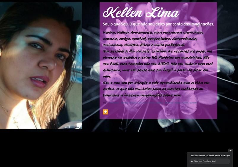 Kellen Lima's page on about.me – http://about.me/kellenlima