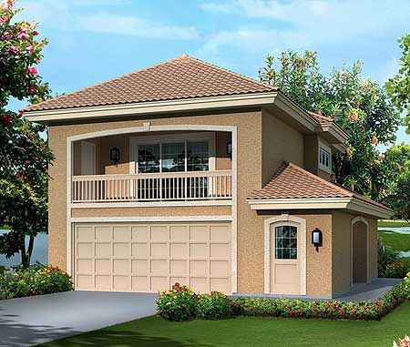 Plan 57280ha Mediterranean Garage Apartment Garage