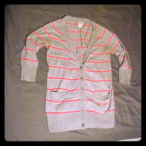 Boyfriend button up cardigan Cute quarter sleeved cardigan Tops Button Down Shirts
