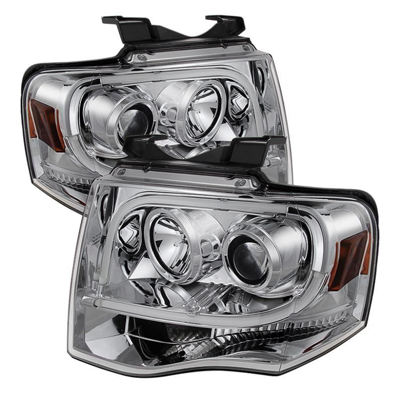 Spyder 0713 Ford Expedition Projector Headlights Light