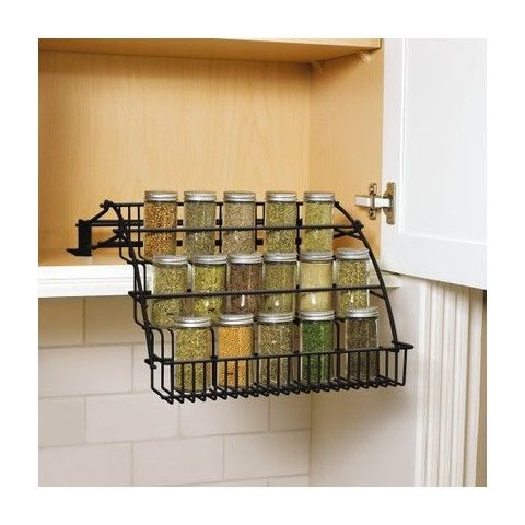 rubbermaid pull down cabinet spice rack