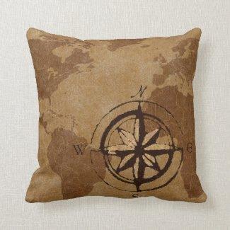 Old World Map Decor Pillow Zazzle Com In 2020 World Map Decor Map Decor Decorative Pillows
