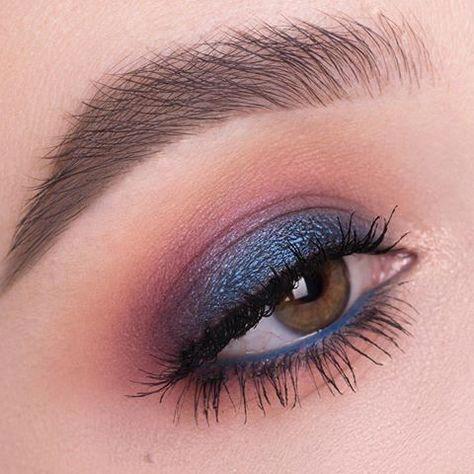 pinbriana johnson on makeup in 2020  blue eye makeup