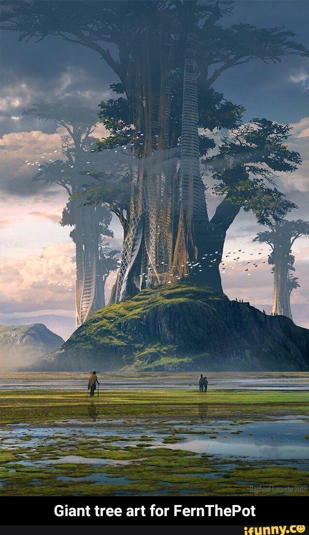 Giant tree art for FernThePot - Giant tree art for FernThePot - iFunny :)