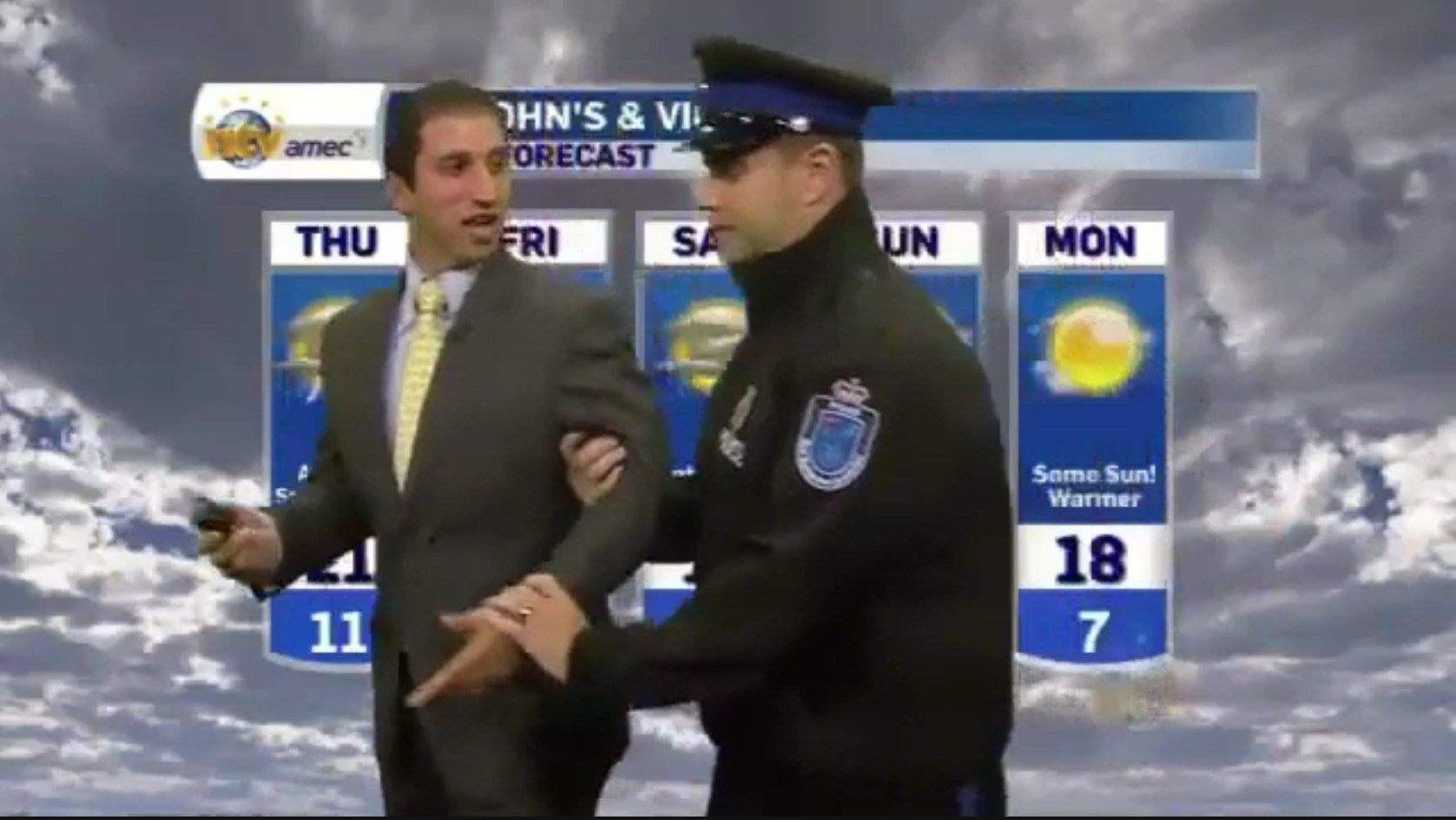 Meteorologist 'arrested' on live television - WBTV 3 News, Weather