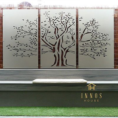 Metal Privacy Screen Fence Decorative Panel Wall Art