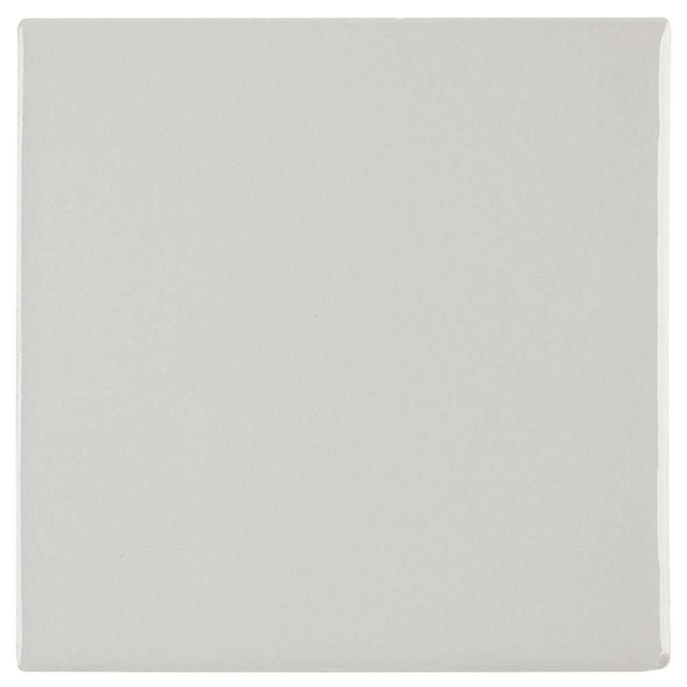 Daltile Restore Ash Gray 4-1/4 in. x 4-1/4 in. Glazed Ceramic Wall Tile (12.5 sq. ft./case) - X114441P2 - The Home Depot