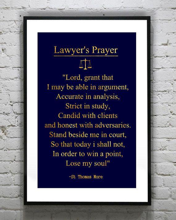 Lawyer student Gift Future lawyeru0027s Prayer law school Gold Foil - new blueprint lsat installment plan