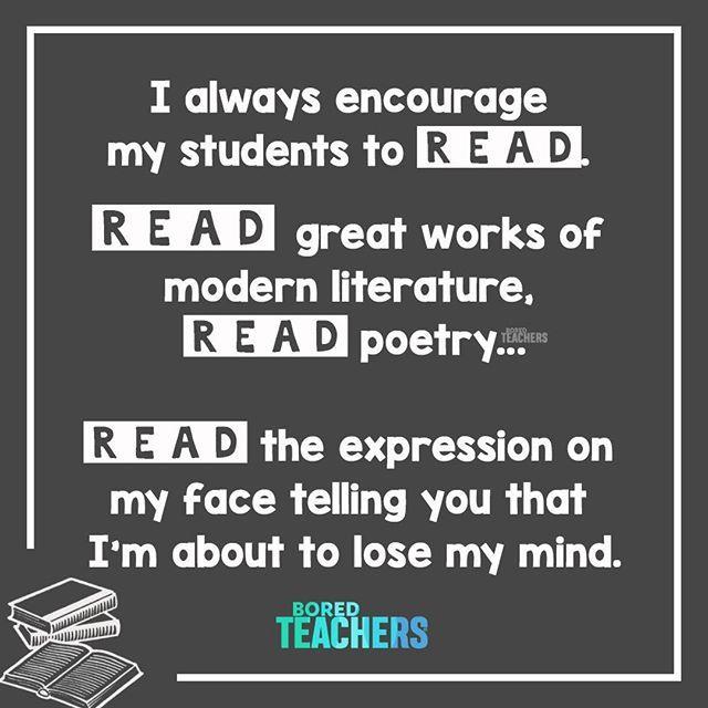 It S Thursday People Read Carefully Bored Teachers Teacher Quotes Inspirational Teaching Humor