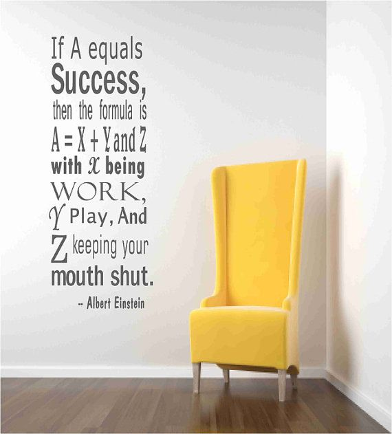 Einstein Success Quote Wall Decals | Quotes | Pinterest | Success ...
