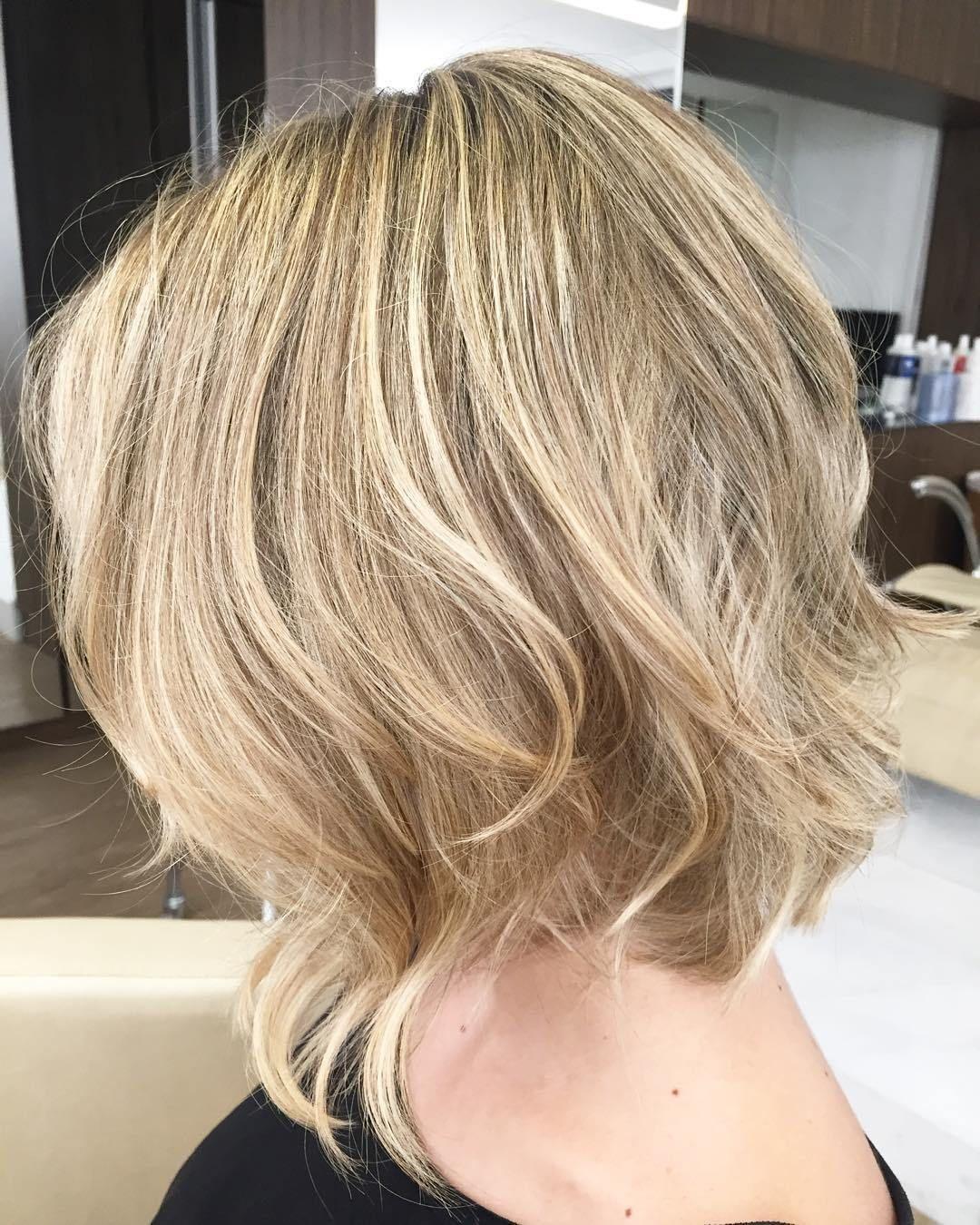 Medium Bob With Longer Front Strands Haircuts For Fine Hair Bob Hairstyles For Fine Hair Fine Hair