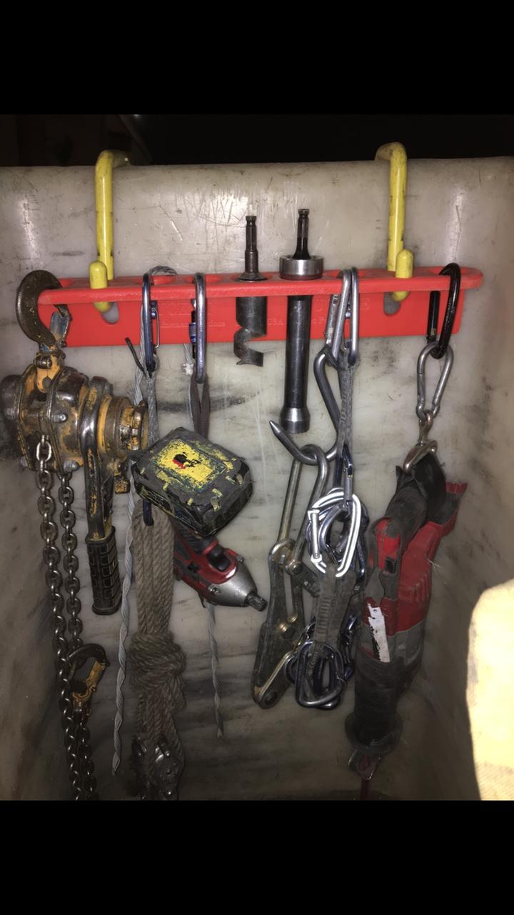bucket truck tool board