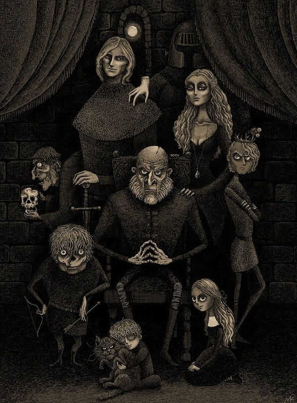 Lannisters As The Addams Family Artwork Lannister Family Game Of Thrones Art A Song Of Ice And Fire