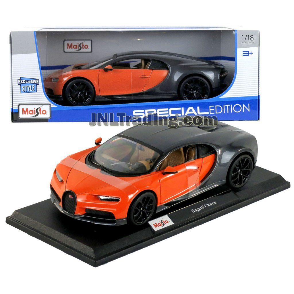Maisto Special Edition Series 1 18 Scale Die Cast Car Orange Black Luxury Super Sports Car Bugatti Chiron W Display Base Car Dimension 9 1 2 X 4 1 2 X 3 Sports Cars Bugatti Super