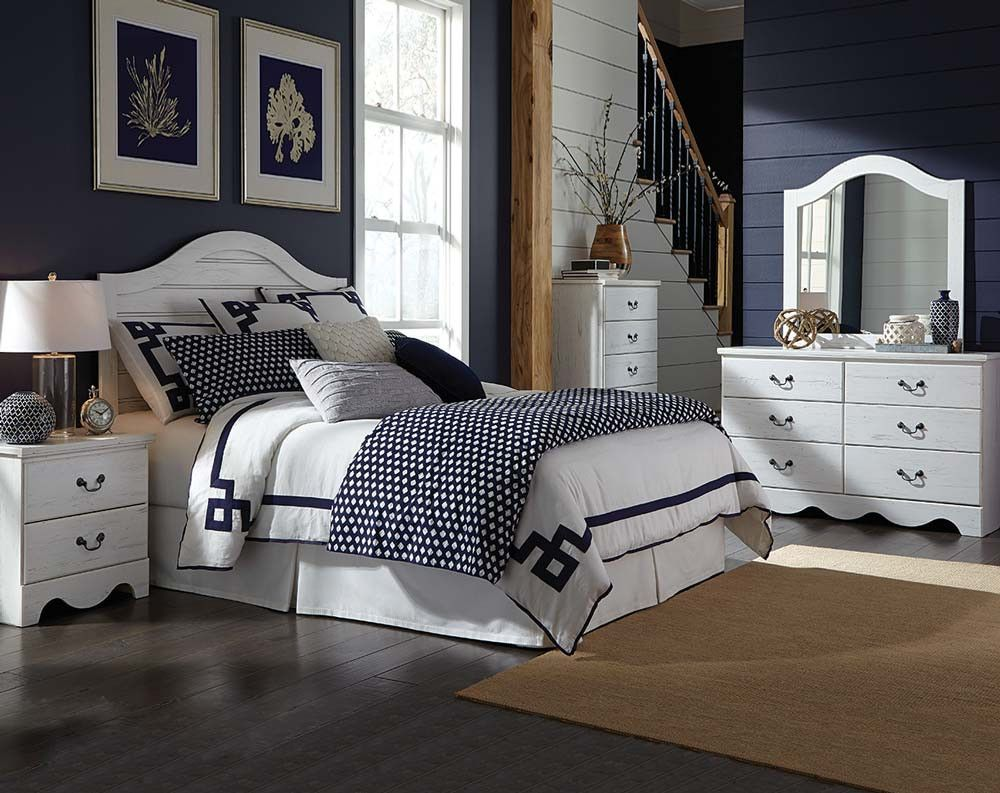 White, Rustic Bedroom Suite, 3 Or 5 Piece | Taylor Bedroom Set | American
