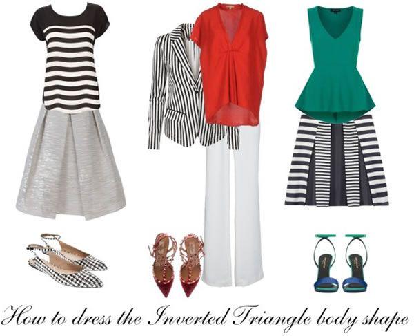 Inverted Triangle Body Shape A Capsule Wardrobe For The Inverted Triangle Inverted Triangle Outfits Triangle Body Shape Rectangle Body Shape
