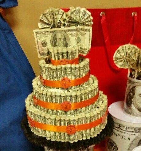 Money cake birthday money cake i made this for my son 39 s 12th birthday i added 2 bills behind - Money cake decorations ...