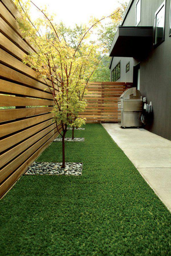 Hinterhof Gartengestaltung Baum Idee