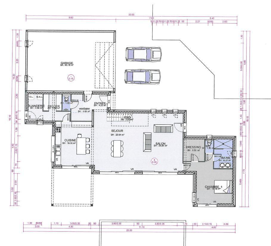 Plan RDC Maisons Pinterest