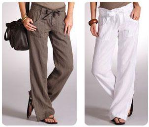 pantalon de lino playa - Buscar con Google