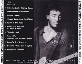 100 Greatest Bootlegs 134 Bruce Springsteen Max S Kansas City Night 1973 Flac Bruce Springsteen Kansas City Songs